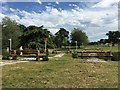 SJ5351 : Cholmondeley Castle Horse Trials: Rails on cross-country course by Jonathan Hutchins