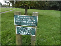 SU9395 : Signs on Winchmore Hill Common by David Howard