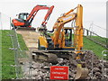 SP9114 : Repairing Startops Reservoir (1) The Ramp from the Car Park by Chris Reynolds
