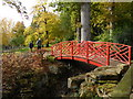 SP1833 : Batsford Arboretum - red bridge : Week 43