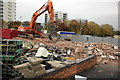 SJ4066 : Demolition of the Ship Victory, Chester (06/11/15) by Jeff Buck