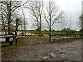 SJ7260 : Watch Lane Flash: fishermen's car park by Jonathan Hutchins