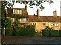 TL1407 : Cottages on Church Green, St Peter's Street by Alan Murray-Rust