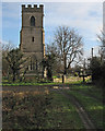 TL4352 : Hauxton: St Edmund's from the west by John Sutton