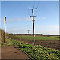TL3357 : Bridle path to Caldecote by John Sutton