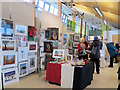SP9313 : Some Bucks Open Studio stands at College Lake by Chris Reynolds