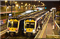 J3775 : Two trains (night view), Sydenham, Belfast (December 2015) : Week 50