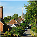 TQ3828 : Church Lane and church, Horsted Keynes by Robin Webster