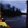 SE2336 : Extreme flood on the River Aire, from Newlay Bridge (6) by Rich Tea