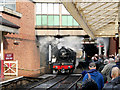 SD8010 : Flying Scotsman Arrives at Bury by David Dixon
