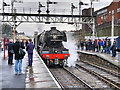 SD8010 : Flying Scotsman Test Running at Bury - January 2016 by David Dixon