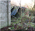 TM3195 : Remains of the Floodlight Tractor and Trailer Shed by Evelyn Simak