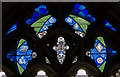 TR1557 : Stained glass window, cloisters, Canterbury Cathedral by Julian P Guffogg