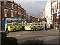 TQ3088 : Ambulance cars, Crouch End by Julian Osley