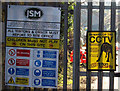 SE1502 : Signs for Dunford Bridge Electricity Substation by Andrew Tatlow
