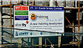 J4569 : Housing association sign, Comber (February 2016) by Albert Bridge