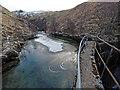 NN2376 : Dam on the Allt Choimhlidh by valenta