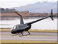 NM9035 : G-LOYN leaving Oban Airport by TheTurfBurner