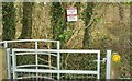 ST7759 : Notice, Hog Wood by Derek Harper