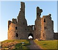 NU2521 : Great Gatehouse, Dunstanburgh Castle by Andrew Curtis