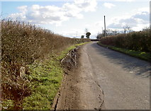 ST5958 : Stone on Sutton Hill Road by Neil Owen