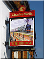 TL1439 : Inn sign, The Bridge, Shefford by Robin Webster