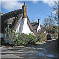 TL2842 : Steeple Morden: the corner of Church Farm Lane by John Sutton