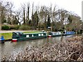 SJ5884 : Narrowboats at Moore by Gerald England