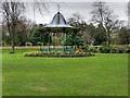 NZ3956 : Bandstand in Mowbray Park by David Dixon