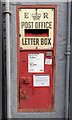 SP2865 : Postbox in the wall of the former post office, Smith Street, Warwick by Robin Stott