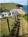 SX8138 : The coast path at Hallsands by Philip Halling