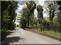 TM1251 : Norwich Road & footpath by Adrian Cable