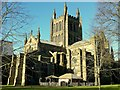 SO5139 : Hereford Cathedral from the north-east by Jonathan Billinger