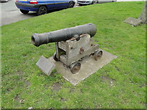 TM5076 : Salvaged 18th century cannon at Southwold by Adrian S Pye