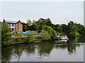 SJ7395 : Hulme Bridge Ferry and Ferry House by David Dixon