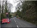 SX0049 : Temporary Traffic Lights, Levalsa Meor by Nigel Mykura