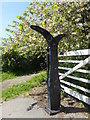 SJ3277 : Sustrans marker, Willaston by Eirian Evans