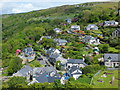 SH5831 : Harlech houses spread out up the hill : Week 21