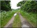 SO8745 : Farmland track at Pirton by Philip Halling