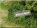 TM1652 : Wood Farm sign by Adrian Cable