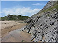 SR9794 : Rocks on Broad Haven beach by Gareth James