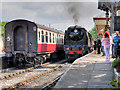 SD7916 : Steam Trains Passing at Ramsbottom by David Dixon