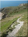 SY8480 : The coast path ascending Bindon Hill by Philip Halling