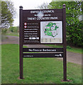 TQ2897 : Trent Country Park sign by Andrew Tatlow