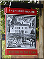 TQ3051 : The Inn on the Pond, Nutfield Marsh - inn sign by Robin Webster