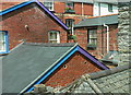 SH7400 : Interesting roof shapes in Machynlleth : Week 28
