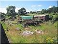 SE0438 : Railway yard at Oakworth by Nigel Thompson