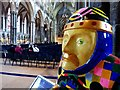 SK9771 : Baron of the Crystal Hues in Lincoln Cathedral by Steve  Fareham