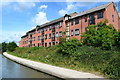 SP3064 : Modern apartments overlooking the canal at Myton by David Martin