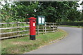 SP6829 : Georgian pillar box and parish notices by Philip Jeffrey
